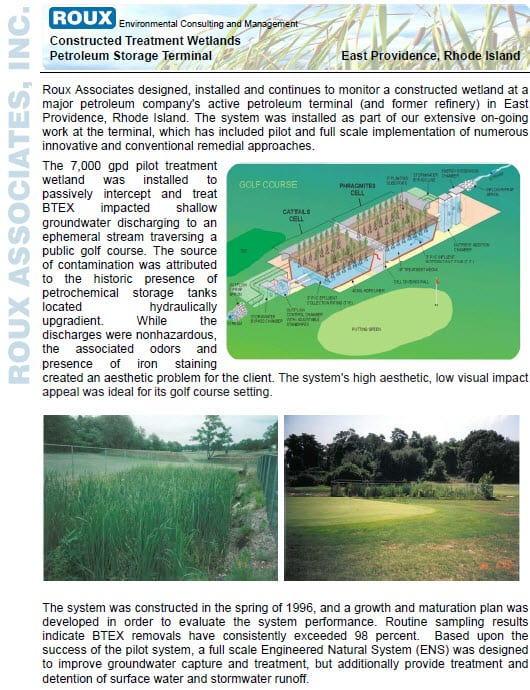 BTEX Treatment Wetlands