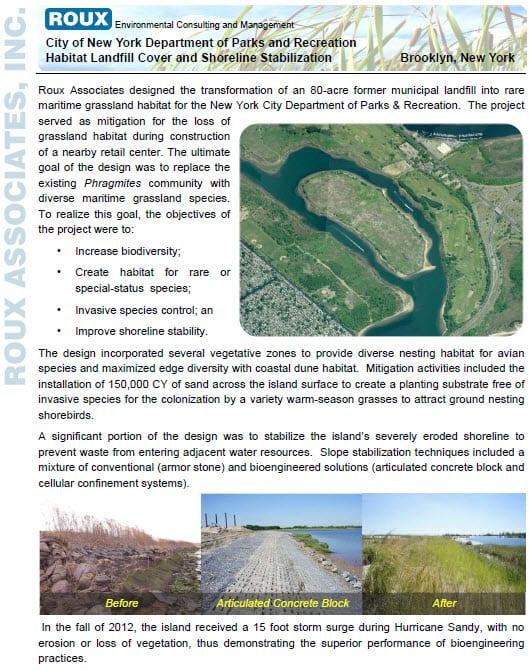 Habitat Landfill Cover and Shoreline Stabilization-Brooklyn-NY(1)