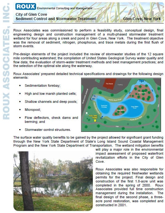 Sediment Control and Stormwater Treatment-Glen Cove-1